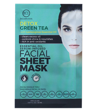 BCL Essentail Oil Facial Mask Detox Green Tea 20ml